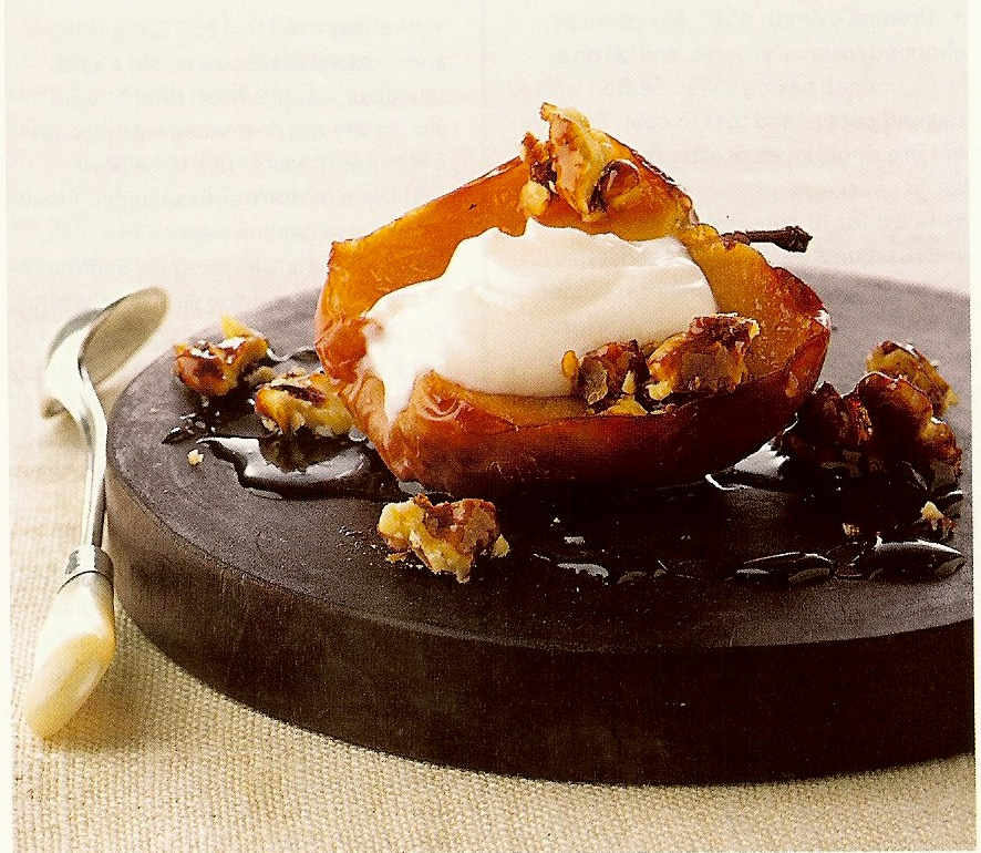 baked apples with candied walnuts dessert apples walnuts yogurt honey ...