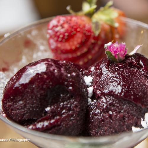 Blackberry Champagne Sorbet