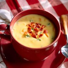 Cheese Chowder With Bacon And Chili Pepper