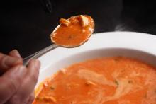 Creamy Tomato Bisque With Lump Crabmeat