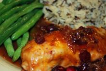 Baked Chicken Breast With Cranberries