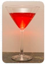 cranberry ginger vodka sparkler