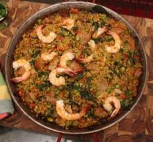 Shrimp and Pork Paella
