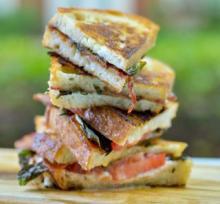 Tomato Bacon Basil Brie Sandwich