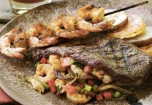 Carpetbagger Steak with Shrimp Stuffing