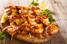 Cheesy Shrimp with Bacon