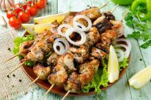 Lemon-Herb Swordfish Kebabs