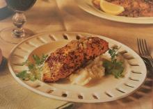 Pan Roasted Salmon on Horseradish Potatoes