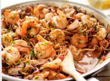 Spanish-Style Toasted Pasta with Shrimp
