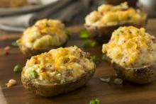 Seafood-Stuffed Baked Potatoes