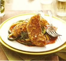 Almond-Crusted Chicken With Romesco Sauce
