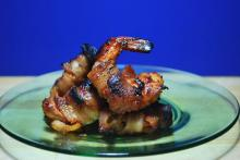 Bacon-Wrapped Gulf Shrimp with Rosemary and Stilton