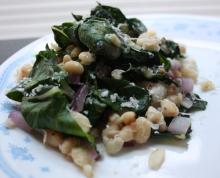 Swiss Chard With White Beans