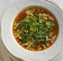 Blue Crab and Summer Vegetable Soup