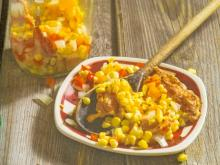 pickled corn and bacon relish
