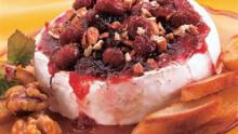 Cranberry Brie With Pecans