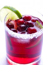 Cranberry Margaritas With Fresh Lime