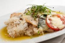Gulf Flounder Caprese with Crab Risotto