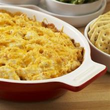 Warm Crab Dip with Four Cheeses
