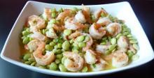 Lima Beans and Shrimp
