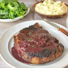 Rib-eye Steak With Marchand Du Vin Sauce