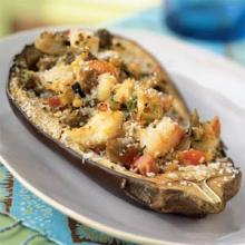 Seafood-Stuffed Eggplant