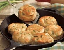 Skillet Scallion Biscuits