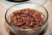 Spiced Pecans With Rum Glaze