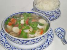 Thai Crab Shrimp and Cilantro Soup