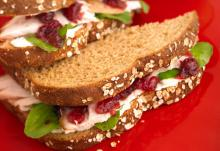Turkey Arugula Cranberry Sandwich