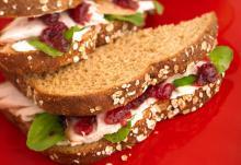 Turkey Arugula Cranberry Sandwich
