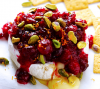 Baked Brie With Cranberry And Pistachio Topping