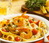 Shrimp And Scallop Fettuccine With Feta