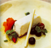 White Chocolate and Meyer Lemon Semifreddo with Vanilla-Poached Berries
