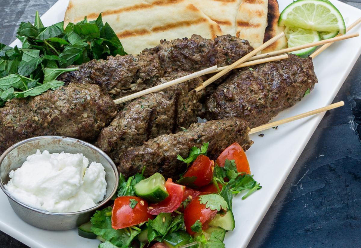 Koftas with Garlic Sauce