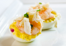 Deviled Eggs with Crab Maison