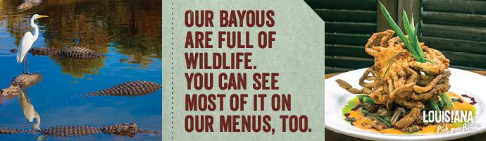 bayous/menus