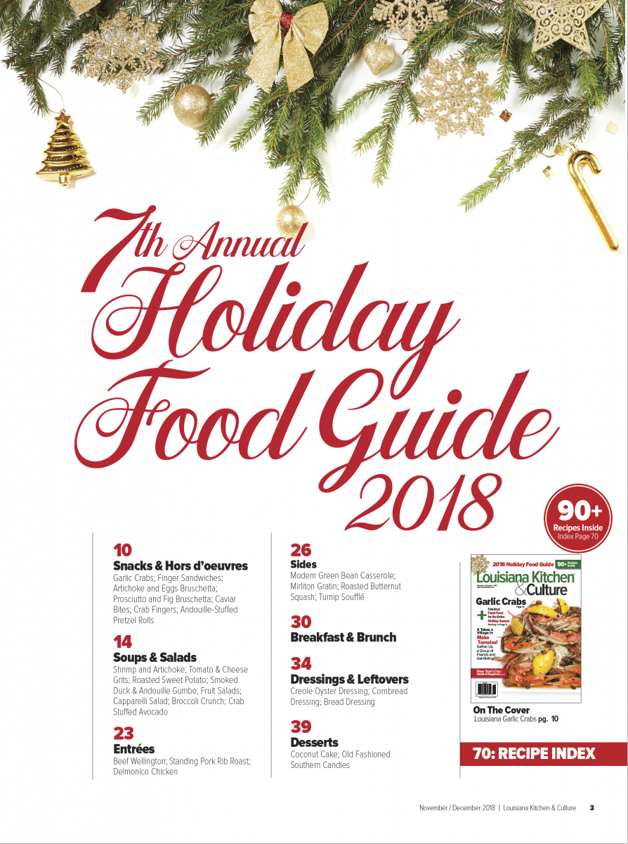 NovDec 2018 Holiday Food Guide