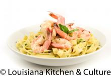Chef Paul's Pasta with Shrimp and Crab Butter Cream Sauce