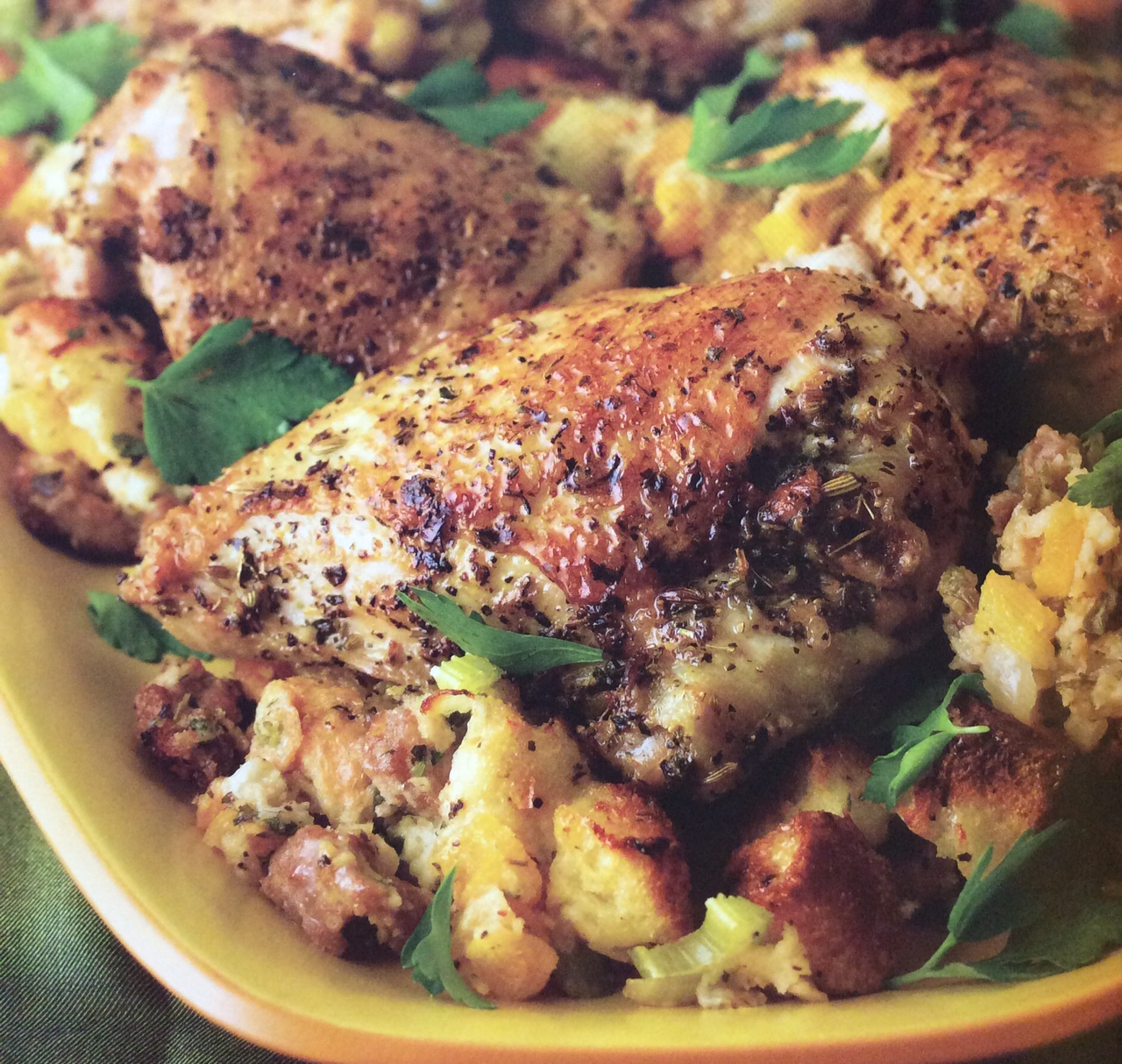 Roast Chicken and Stuffing Main Course chicken, italian sausage ...