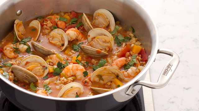 seafood stew with farro soups stews octopus clams shrimp leeks fennel ...
