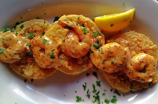 shrimp over fried creole tomatoes appetizers shrimp creole tomatoes ...