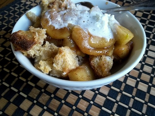 Brown Butter Shortcake with Stewed Apples and Chantilly Cream Dessert
