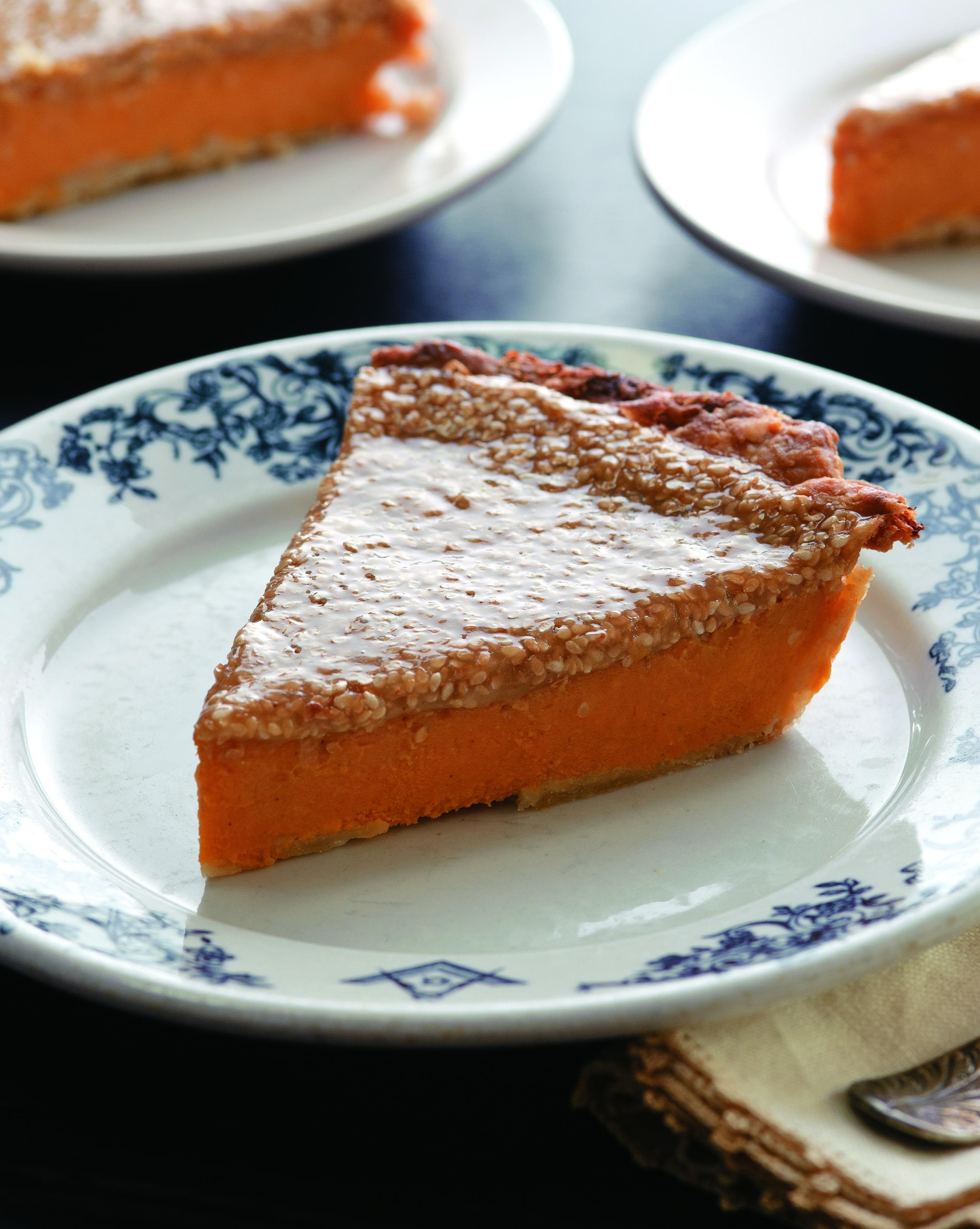 Sweet Potato Pie with Sesame Praline Crust | Louisiana