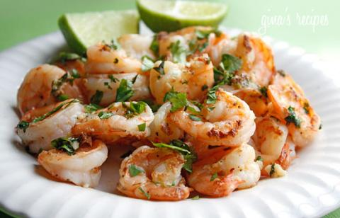 shrimp cilantro