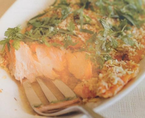Jacque Pepin's Baked Salmon