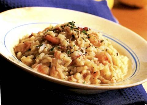 Risotto with crab and Shrimp