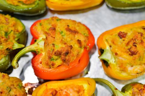 Seafood-Stuffed Bell Peppers