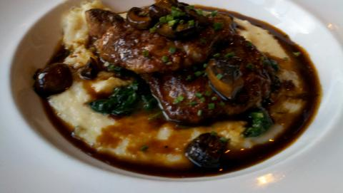 wild mushroom grits recipes dishmaps ham and grits quiche with wild ...
