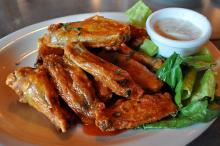 Hot Wings with Bleu Cheese